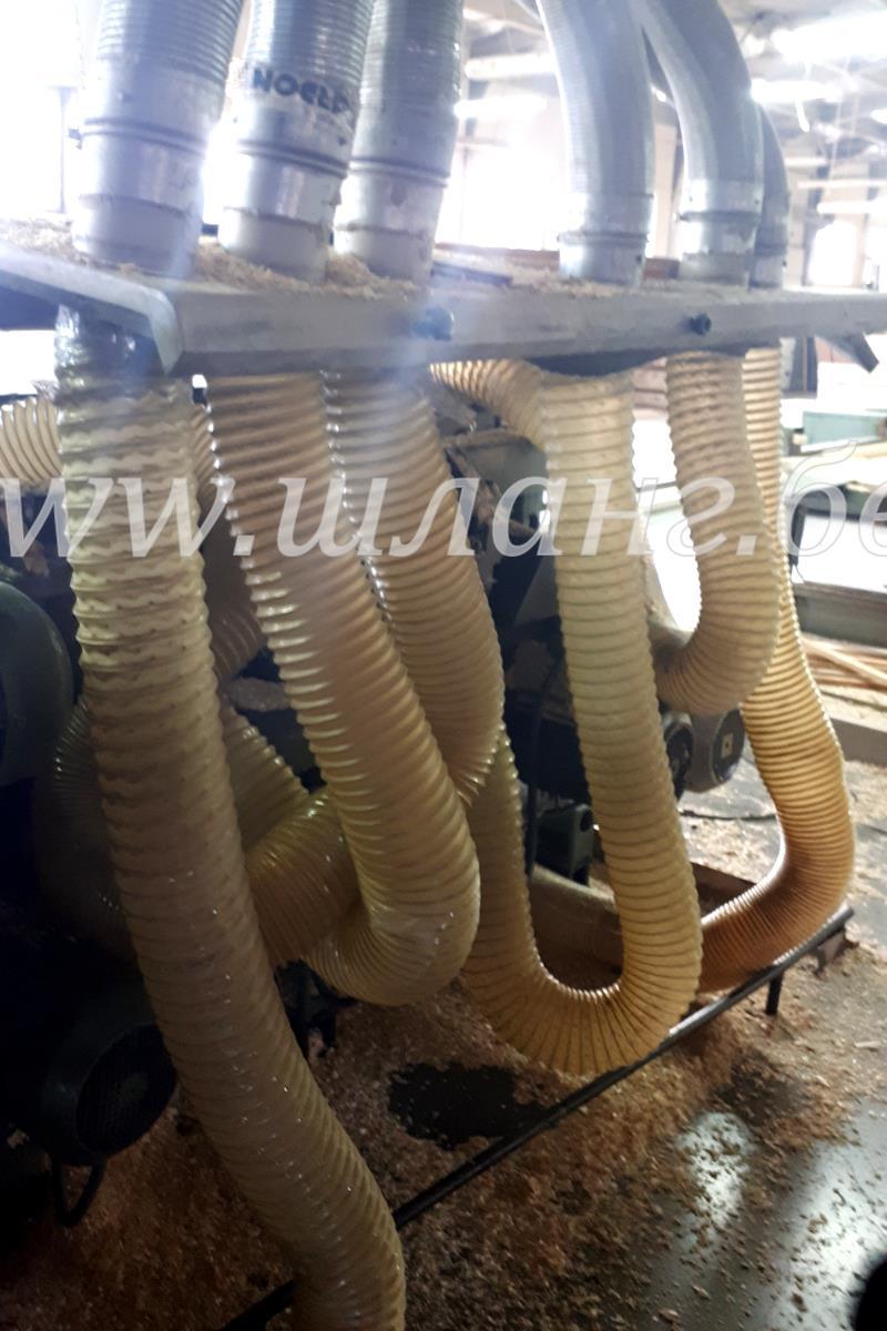 Аспирационный шланг ПУ для деревообрабатывающего станка